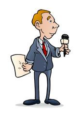 male reportier