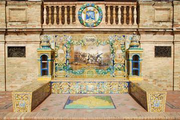 Tiled Province Alcoves Madrid - Plaza de Espana - Seville