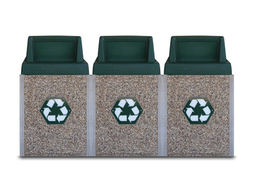 Recycle Bins isolated on white