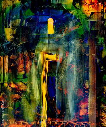 Obraz na Plexi Abstract oil painting