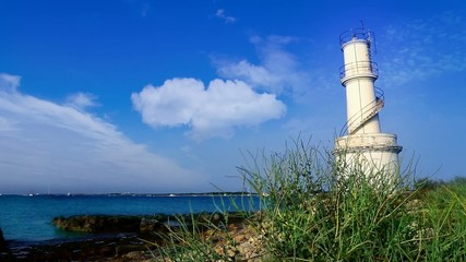 La Savina lighthouse in Formentera near Ibiza island