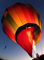 Hot Air Balloon Being Inflated