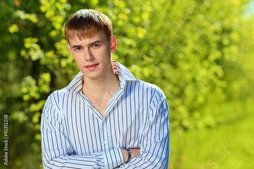 serious young man