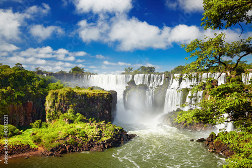 Wall Murals Waterfalls Iguassu Falls, view from Argentinian side