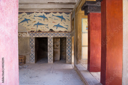 Inside the palace of Knossos