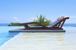 piscine avec lit de soleil double
