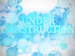 Under Construction 3D silber grau hellblau