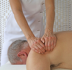 Deep Tissue massage to subscapularis