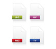 File formats icon set