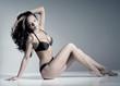slender girl in a bikini