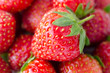 fresh ripe strawberries, macro