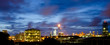 twilight in petrochemical plant