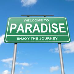 Paradise concept.