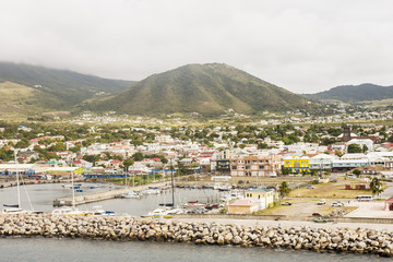 Colorful Shopping Area in St Kitts