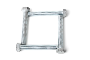 Square box of bolts