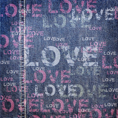 Background denim love texture