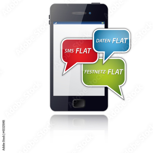 Daten, SMS, Festnetz Flatrate - inklusive Smartphone