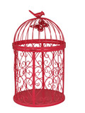 Red Metal Birdcage