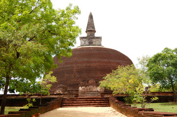 The Rankoth Vehera stupa in Polonnaruwa, Sri Lanka