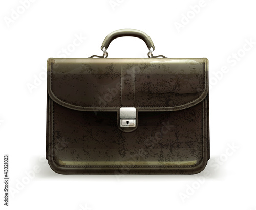 Brief case, old-style isolated
