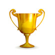 Gold trophy, old-style isolated