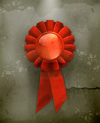 First place red ribbon, old-style