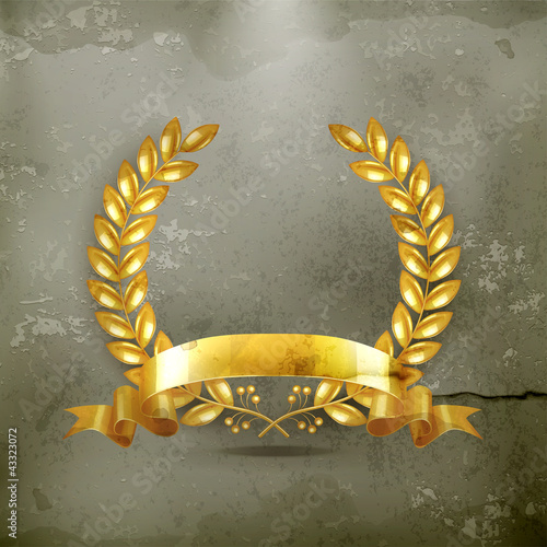 Gold wreath, old-style