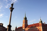Royal castle square in Warsaw old town. Poland