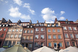Traditional polish homes in market square, Warsaw old town