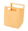 Open paper brown bag isolated