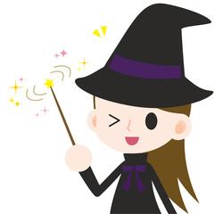 魔法をかける女の子