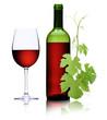 Rotwein mit Weinranke