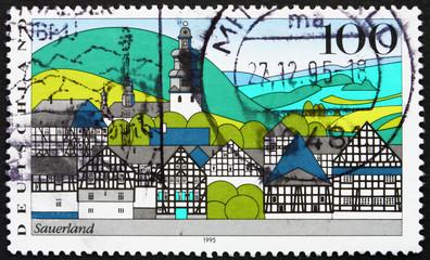 Postage stamp Germany 1995 Sauerland, Landscape