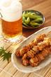 焼き鳥とビールと枝豆