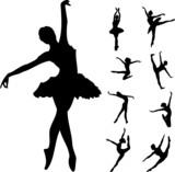 Fototapety Set of ballet dancers