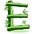 Bambù Lettera E - Bamboo Logo Sign Letter E - Vector