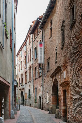 Vieille rue à Toulouse