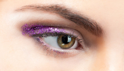 eye close-up with make up