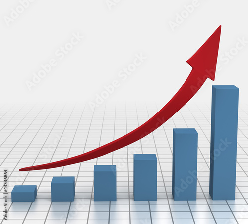 Business bar graph growth chart