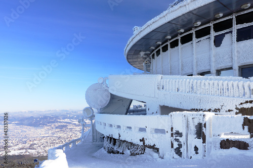 Czech Republic - Liberec - transmitter Jested in winter