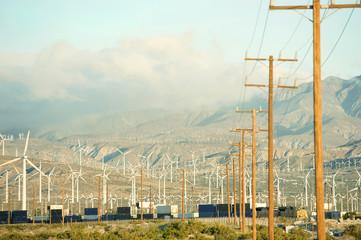 Wind farm in desert