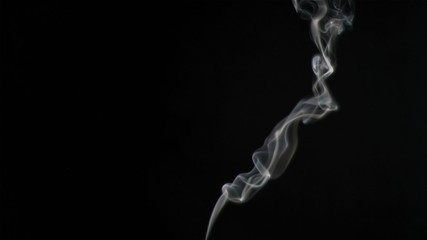 Plumes of smoke in super slow motion rising