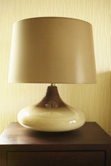 Modern lamp on side table