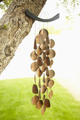 Close up of wind chimes
