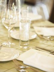 Elegant table placesetting