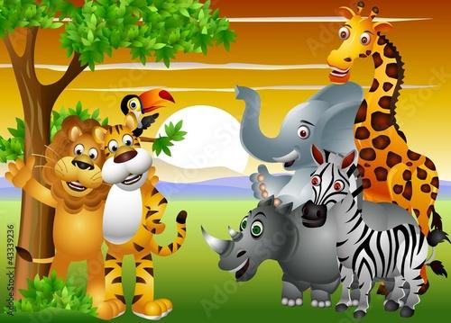 Dziki kreskówka Afryki
