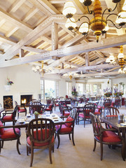 Elegant restaurant dining room
