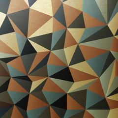 Brown gamut triangle patch surface. Abstract background, vector,