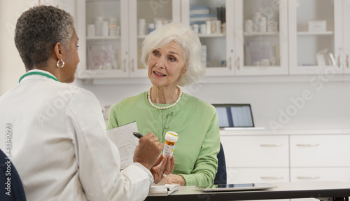 Doctor explaining prescription to patient