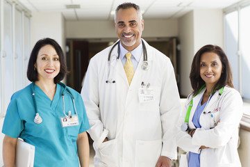 Doctors and nurse in hospital